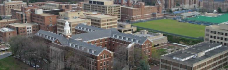 Aerial photo of Georgetown University