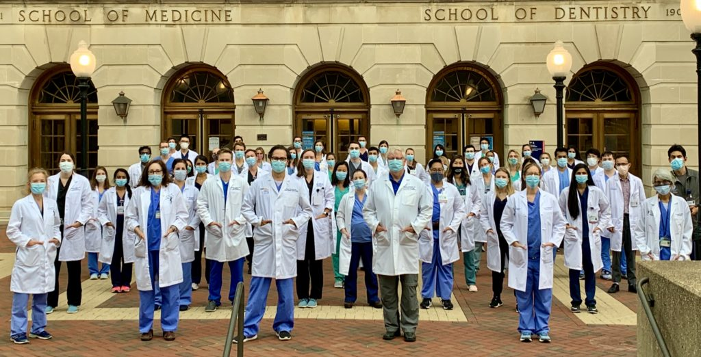 MedStar Georgetown Interns starting work during the Covid19 pandemic in 2020
